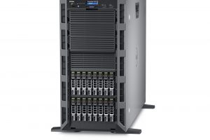 Dell PowerEdge T630 tower server, with 16x 2.5-inch hard drives, shown without bezel.