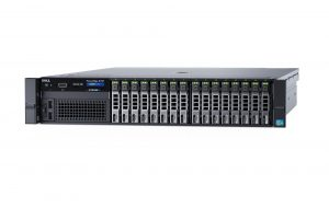 Dell PowerEdge R730 rack server configured with 2.5-inch drives.